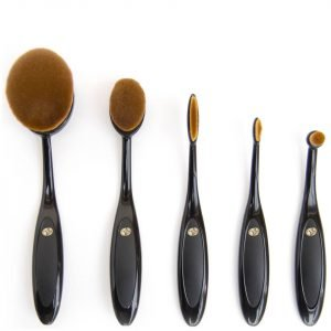 Rio Essential Microfibre Profession Oval Cosmetic Brush Collection