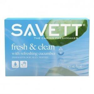 Savett Fresh & Clean Kosteuspyyhe 10 Kpl