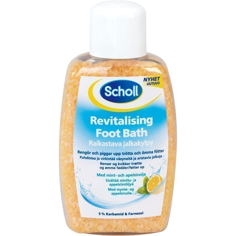 Scholl Revitalising Foot Bath With Mint & Orangeoil 275g
