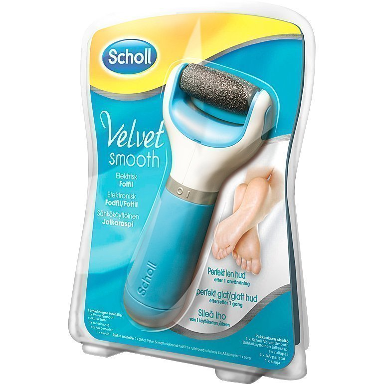 Scholl Velvet Smooth Electric Footfile (4xAA Batteries Included)