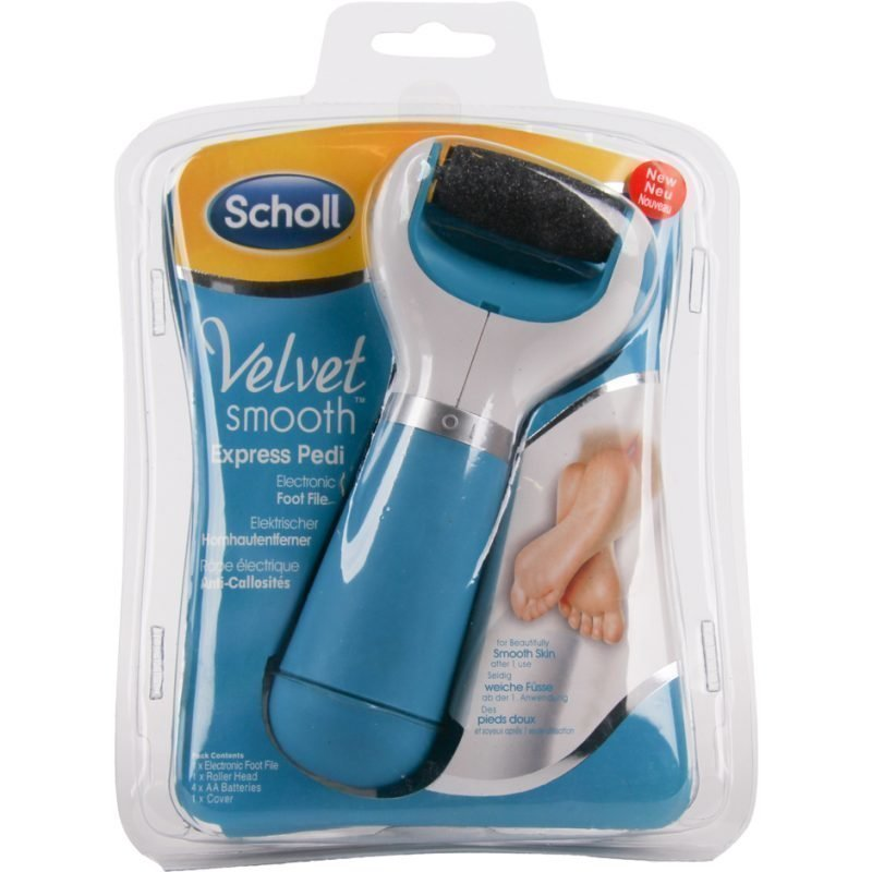 Scholl Velvet Smooth Express Pedi Electric Footfile (4xAA Batteries Included)