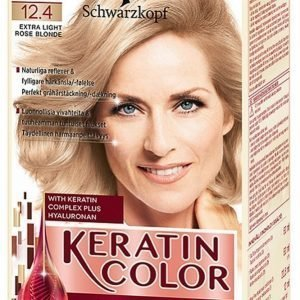 Schwarzkopf Anti Age Keratin 12.4 Extra Light Rosé Blonde Hiusväri