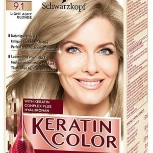 Schwarzkopf Anti Age Keratin 9.1 Light Ashy Blonde Hiusväri