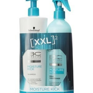 Schwarzkopf Bonacure Moisture Kick Xxl Pakkaus: Shampoo 500 ml + Hoitoaine 400 ml