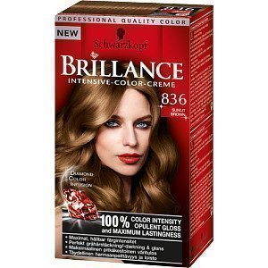 Schwarzkopf Brillance Intensive Color-Creme 836 Sunlit Brown