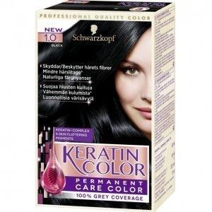 Schwarzkopf Keratin Color 1.0 Black Kestoväri