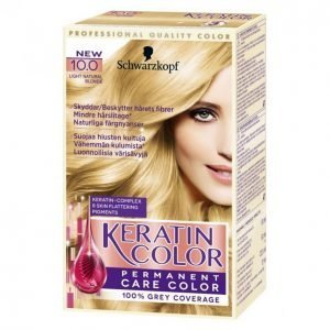 Schwarzkopf Keratin Color 10.0 Light Natural Blonde Kestoväri