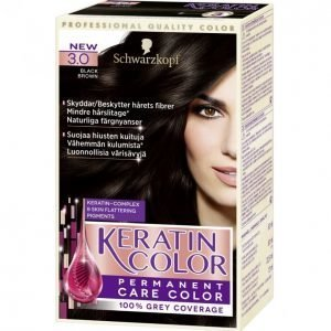 Schwarzkopf Keratin Color 3.0 Black Brown Kestoväri