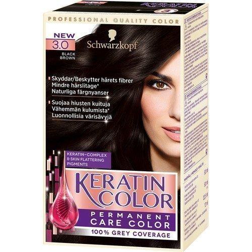 Schwarzkopf Keratin Color 3.0 Black Brown