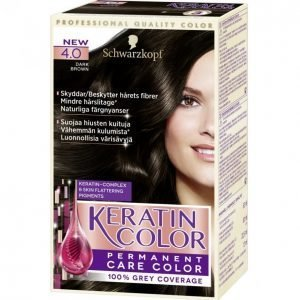 Schwarzkopf Keratin Color 4.0 Dark Brown Kestoväri