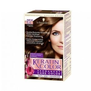 Schwarzkopf Keratin Color 5.6 Chestnut Brown Hiusväri