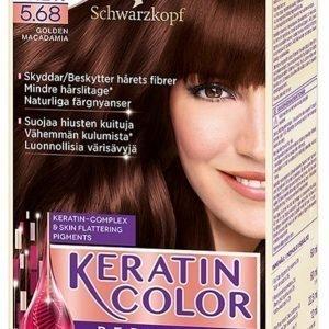 Schwarzkopf Keratin Color 5.68 Golden Macadamia Hiusväri