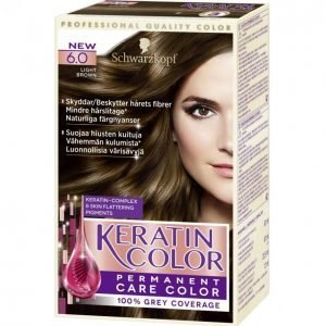 Schwarzkopf Keratin Color 6.0 Light Brown Kestoväri