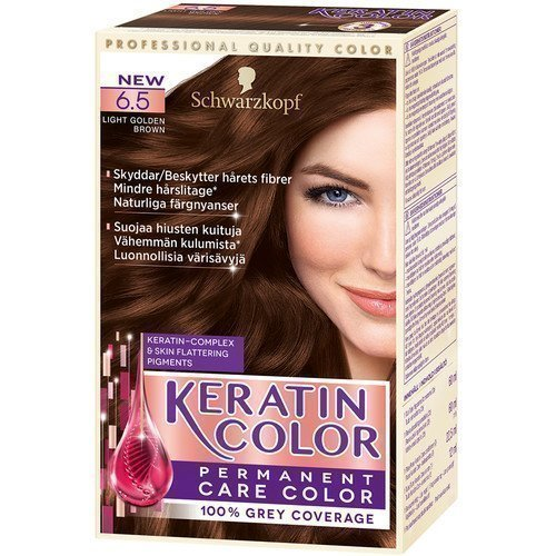 Schwarzkopf Keratin Color 6.5 Light Golden Brown