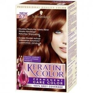 Schwarzkopf Keratin Color 6.7 Mahogany Copper Kestoväri