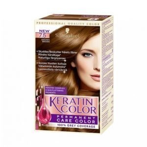 Schwarzkopf Keratin Color 7.5 Golden Brown Hiusväri