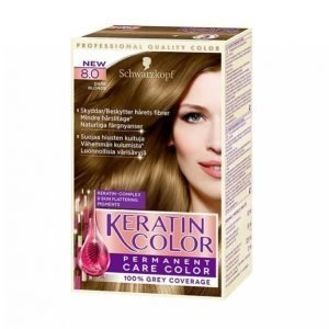 Schwarzkopf Keratin Color 8.0 Dark Blond Hiusväri