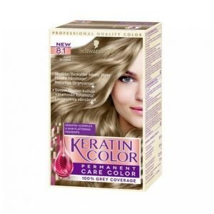 Schwarzkopf Keratin Color 8.1 Ashy Blonde Hiusväri