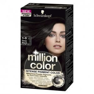 Schwarzkopf Million Color 1-0 Deep Black Kestoväri