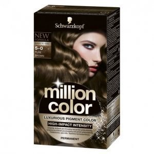 Schwarzkopf Million Color 5-0 Pure Brown Kestoväri