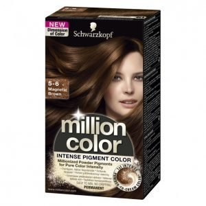 Schwarzkopf Million Color 5-6 Magnetic Brown Kestoväri