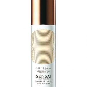 Sensai Silky Bronze Cellular Protective Spray For Body Spf 15 Aurinkosuojasuihke Vartalolle 150 ml