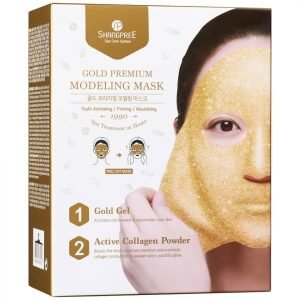 Shangpree Gold Premium Modeling Mask With Bowl And Spatula 50 Ml