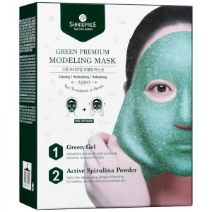 Shangpree Green Premium Modeling Mask With Bowl And Spatula 50 Ml