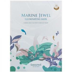 Shangpree Marine Jewel Illuminating Mask 30 Ml Set Of 5