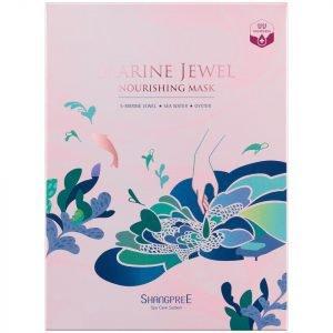 Shangpree Marine Jewel Nourishing Mask 30 Ml Set Of 5