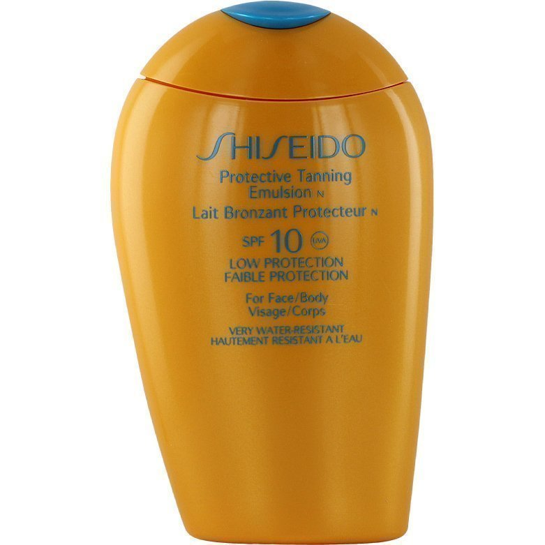 Shiseido Protective Tanning Emulsion SPF10 For Body And Face 150ml