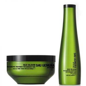 Shu Uemura Art Of Hair Silk Bloom Shampoo 300 Ml And Treatment 200 Ml
