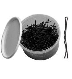 Sibel Pro Hiuspinnit Musta 5cm Purkki Musta