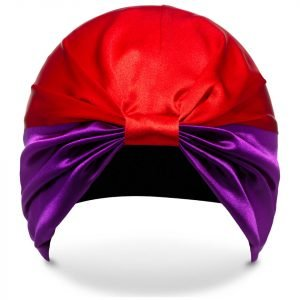 Silke Hair Wrap The Dita Purple And Red