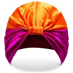Silke Hair Wrap The Poppy Pink And Orange