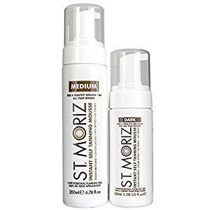 St.Moriz Instant Self Tanning Mousse Itseruskettava Vaahto 2 X Pakkaus