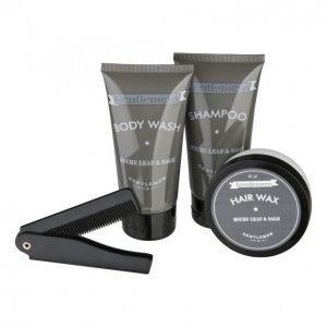 Suihkusaippua + Shampoo + Hiusvaha + Kampa Lahjapakkaus