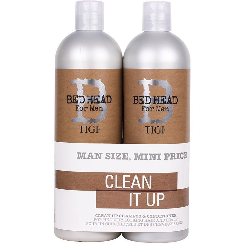 TIGI Bed Head B for Men Clean Up Tweens Duo Schampo 750ml Balsam 750ml