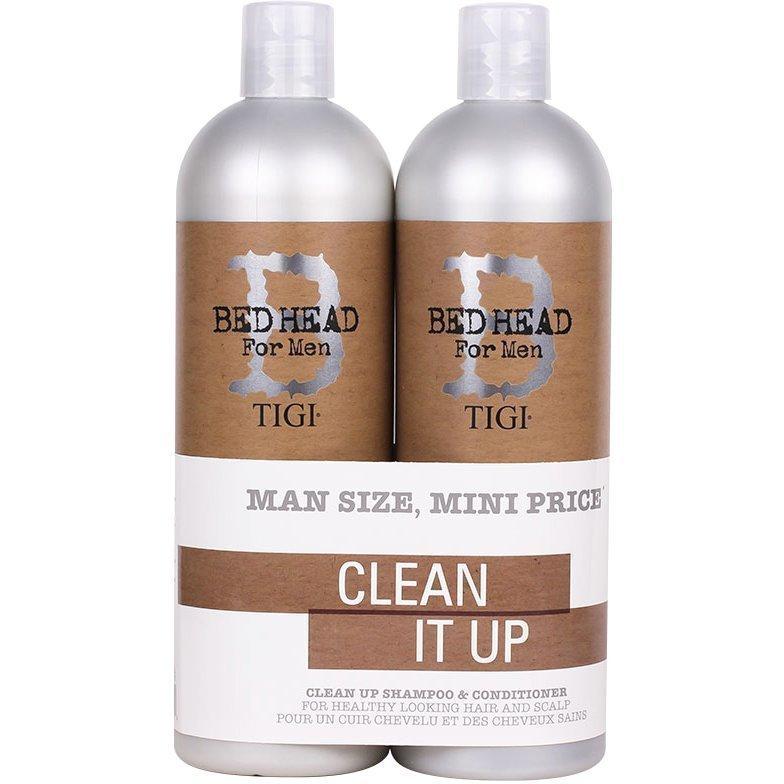 TIGI Bed Head B for Men Clean Up Tweens Duo Schampo 750ml Balsam 750ml