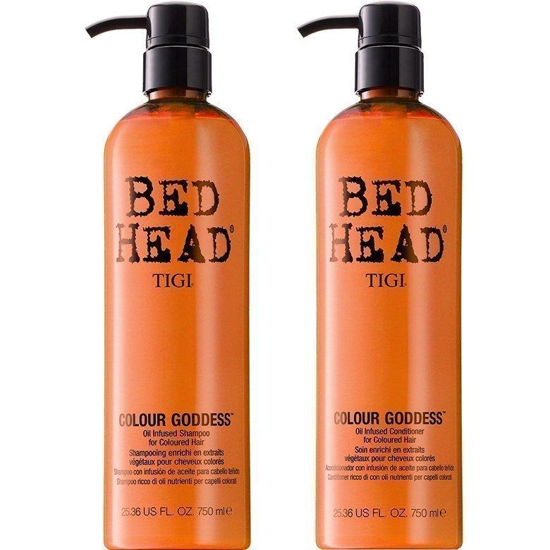 TIGI Bed Head Colour Goddess Duo Shampoo 750ml Conditioner 750ml