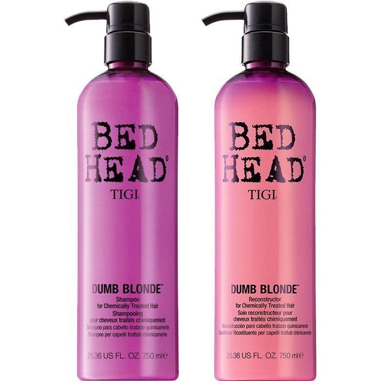 TIGI Bed Head Dumb Blonde Duo Shampoo 750ml Conditioner 750ml
