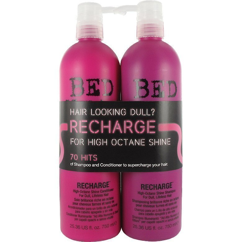 TIGI Bed Head Recharge Tweens High Octane Shine Shampoo 750ml High Octane Shine Conditioner 750ml