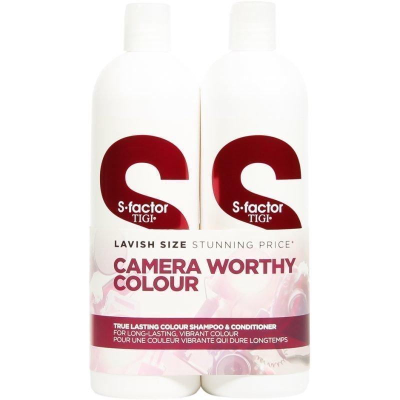 TIGI S-Factor True Lasting Colour Tweens Shampoo 750ml Conditioner 750ml