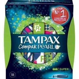 Tampax Compak Pearl Super Sp 18 Tamponi