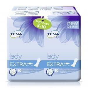 Tena Lady Extra Duo Inkontinenssisuoja 2 X 10 Kpl