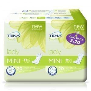 Tena Lady Mini Duo Inkontinenssisuoja 2 X 20 Kpl