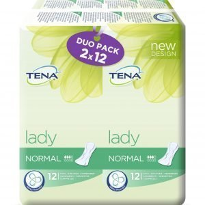 Tena Lady Normal Duo Inkontinenssisuoja 2 X 12 Kpl