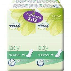 Tena Lady Normal Duo Inkontinenssisuoja 2 X 12 Kpl