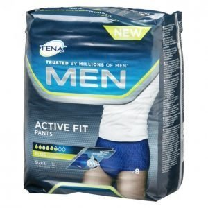Tena Men Active Fit Pants Large Inkontinenssisuoja 8 Kpl