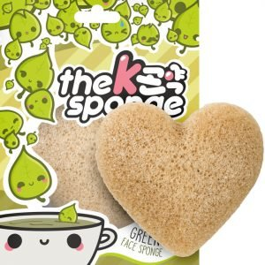 The Konjac Sponge Company K-Sponge Heart Sponge Green Tea 12 G